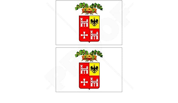 Vinyl Bumper Stickers 100mm ITALY Italian Flag ITALIA 4 Decals x2