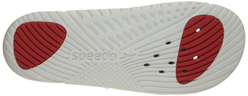 Speedo Mens Exsqueeze Me Rip Slide All-Purpose Slide White/Black BiW4Z9g