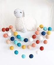 """Southwestern Sky"" 7 feet long, 28 felt balls Handmade Felt Ball Garland by Sheep Farm Felt- Terraco"