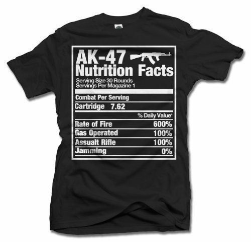 0ea79796 AK-47 NUTRITION FACTS GUN T-SHIRT M Black Men's Tee (6.1oz) - Buy Online in  Oman. | Apparel Products in Oman - See Prices, Reviews and Free Delivery in  ...