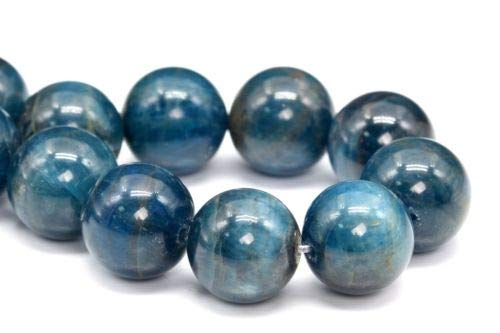 (7mm Natural Apatite Gemstone Beads Grade Round Loose Beads 7'' Crafting Key Chain Bracelet Necklace Jewelry Accessories Pendants)