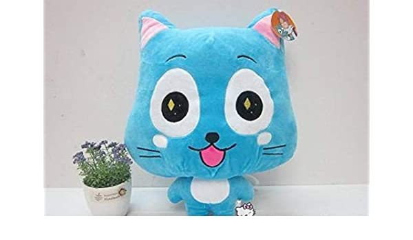 """NEW Fairy Tail Happy Cat Anime Plush 6/"""" Inches"""