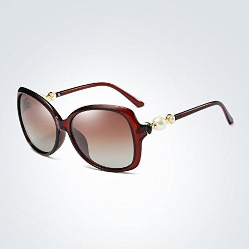Sol Lens 1 Mujer de de Estilo Gafas Polarized Yao UV400 4 Color Gafas Sol Gradient Adultas Butterfly xPgxqfw10S