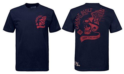 Saint Motors Garage Built Short Sleeve t-Shirt. Navy/Red Limited Edition (X-Large) ()