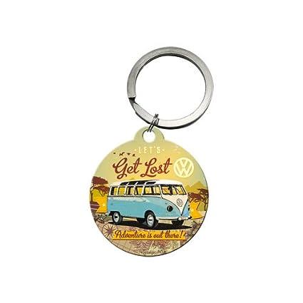 Nostalgic-Art 48021 Llavero Volkswagen Bulli – Let s Get Lost Redondo, 4 cm