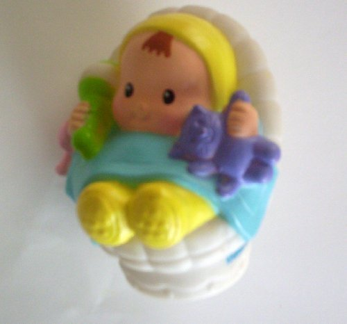 Little People Baby 2004- Replacement Figure - Classic Fisher Price Collectible Figures - Zoo Circus Ark Pet Castle (Fisher Price Little People Circus)