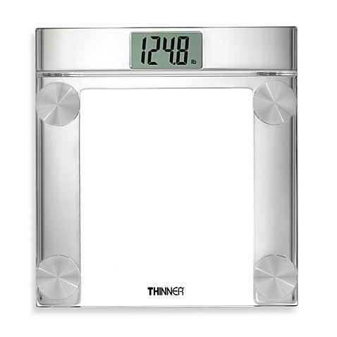 Conair Thinner Digital Precision Chrome and Glass Bathroom Scale, TH360 (Thinner Scale)