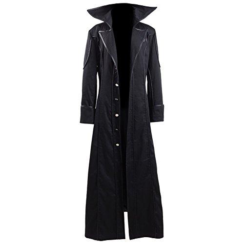 (Akira Kurusu Cosplay Costume Joker Outfit Halloween Long Jacket Full Set (X-Small,)