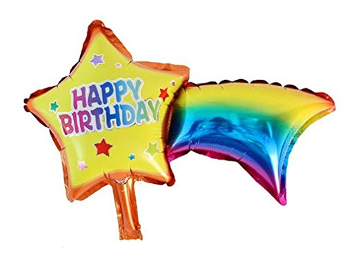 [Star Foil Balloons Happy Birthday party air Balls inflatable Ballons lovely] (Dance Central Character Costumes)