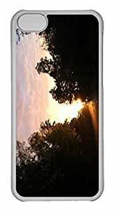 iPhone 5C Case, Personalized Custom Sun After Rain for iPhone 5C PC Clear Case
