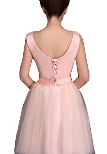 Pink ist bekommen Brautjungfer V Kleider Chiffon Damen emmani qEIpwPn
