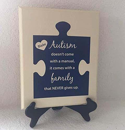 Amazon.com: Personalized Autism Sign, Personalize Autism ...