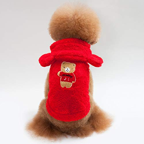 Dog Costume - Warm Fleece Puppy Pet Dog Hooded Coat Jackets Winter Clothes for Small Dogs Chihuahua Pug Clothing Bear Pattern Dog Cat Costume ()