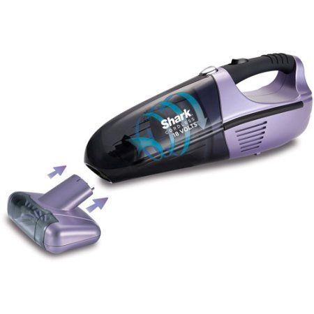 Vacuum Cleaner Euro Pro Shark Twister Cyclonic Technology Cordless Hand-Held Vacuum Cleaner has a LED Charging Indicator and Powerful 18 Volt Battery Model SV780 VX33
