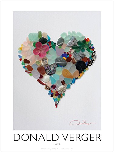 Love. Sea Glass Heart. Unique 18x24 Fine Art Photography Poster Print. Best Quality Gift for College Dorm, Him & Her. Great Birthday, Christmas, Mother's Day & Valentines Gifts for Men, Women & Kids