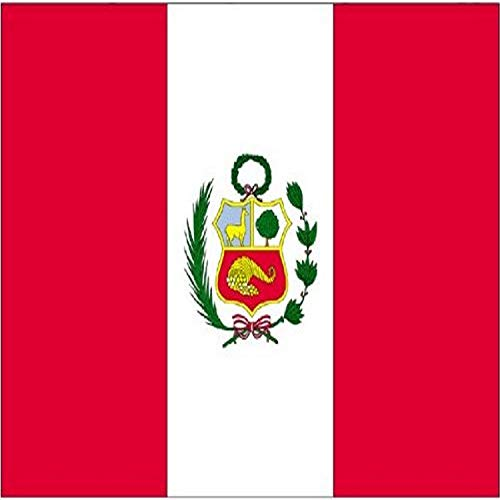 Annin Flagmakers Model 196683 Peru Flag 3x5 ft. Nylon SolarGuard Nyl-Glo 100% Made in USA to Official United Nations Design Specifications.