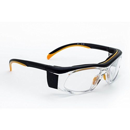 X-ray Radiation Protective Eyewear in the Wrap Safety Frame Which Offers Excellent Protection, Large Viewing Area, Adjustable Temple Bar and Built-in Side Shields. by Schott SF-6 HT