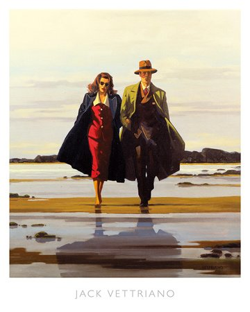 The Road to Nowhere Art Poster Print by Jack Vettriano, 16x20