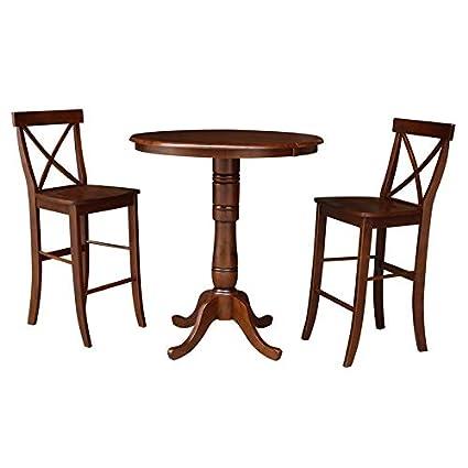 Tables Espresso International Concepts K581-30RT-6B-2 30 ...