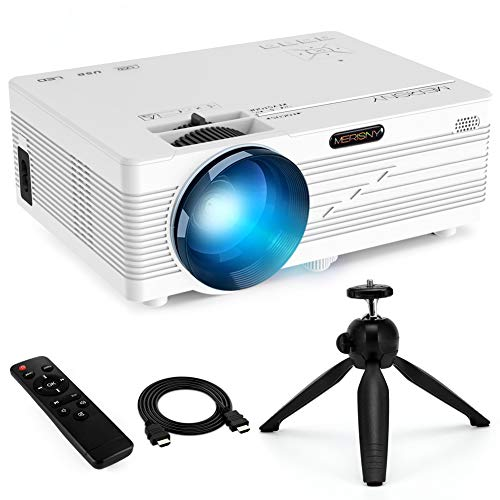 Mini Projector Portable LCD Full HD Video Projector Support 1080P 2200 Lumens Work with Fire TV Stick, HDMI/VGA/AV/SD/ AV/USB/ Laptop for Home Theater