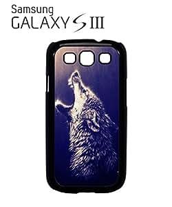 Howling Wolf Rain Native American Cell Phone Case Samsung Galaxy S3 Black