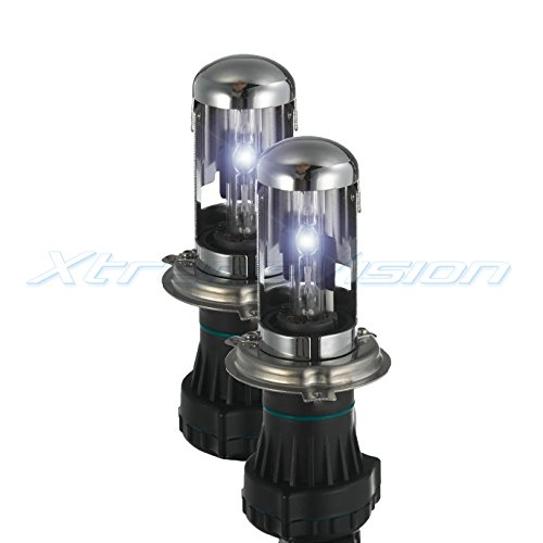 XtremeVision HID Xenon Replacement Bulbs - Bi-Xenon H4 / 9003 5000K - Bright White (1 Pair) - 2 Year - Replacement 2001 Sephia Kia