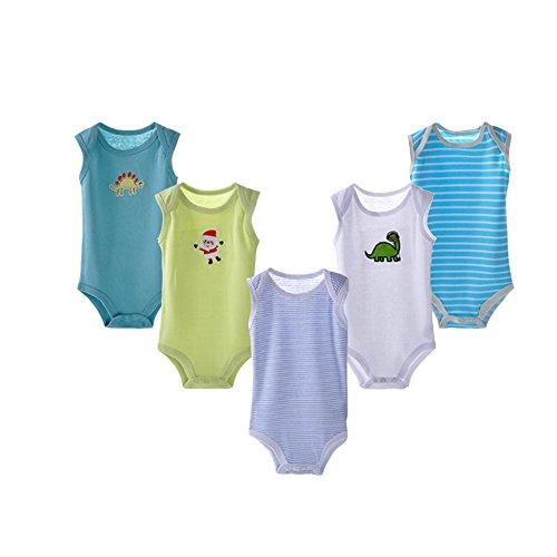 DANROL Baby Cartoon Sleeveless Bodysuit