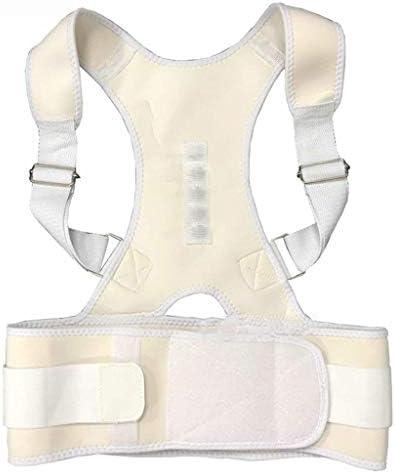 猫背矯正ベルト 脱着簡単 調節可能 理学療法姿勢装具、ホワイト、XXL - 調整可能な姿勢コレクター、ショルダーストラップの下では見えないが、悪い姿勢を改善します 日常 便利 防具 肩こり解消 巻き肩 美姿勢 補正サポーター 子供 大人 男女兼用