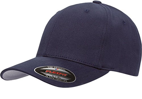 Blank FlexFit Brushed Twill Ball Cap Hat 6377 (L/XL 7 1/8