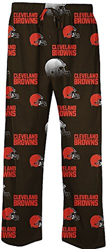 Cleveland Browns Mens Brown NFL Fusion Pajama Pants by