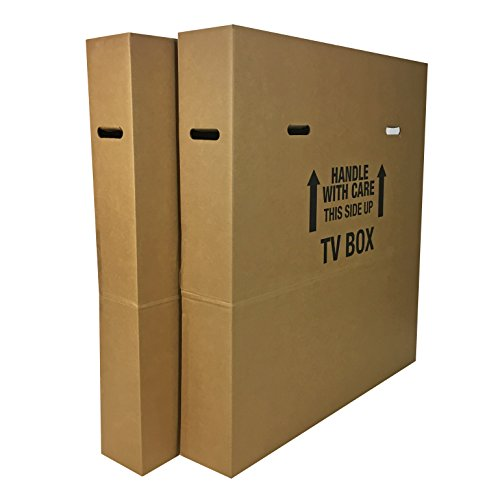 Uboxes Tv Moving Box Adjustable Up To 70 Inch 6 Inch