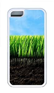 Apple iPhone 5C Case and Cover - Empty Grass Cool TPU Case Cover Protector For iPhone 5C - White