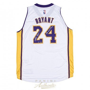 KOBE BRYANT Autographed White Swingman Jersey with