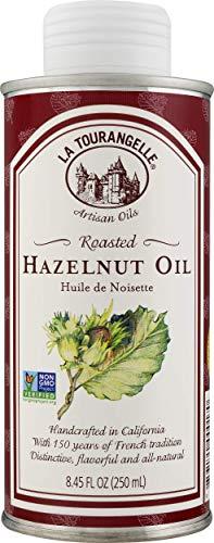 La Tourangelle Roasted Hazelnut Oil 8.45 Fl. Oz., All-Natural, Artisanal, Great for Salads, Fruit, Fish, Marinades or Vegetables