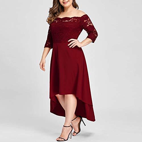 Vestidos-Tallas-Grandes-Plus-Size-Largos-de-Fiesta-para-Gorditas-XL-Rojos-Elegantes-Tallas-Extras