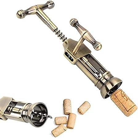 Sacacorchos corcho abridor de botellas Gadgets rack piñón sacacorchos barra herramientas estilo vintage (color: A)-B
