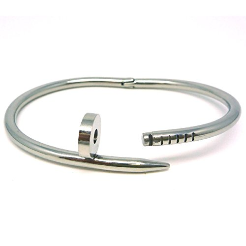Tinksky Titanium Bangle Bracelet Silver