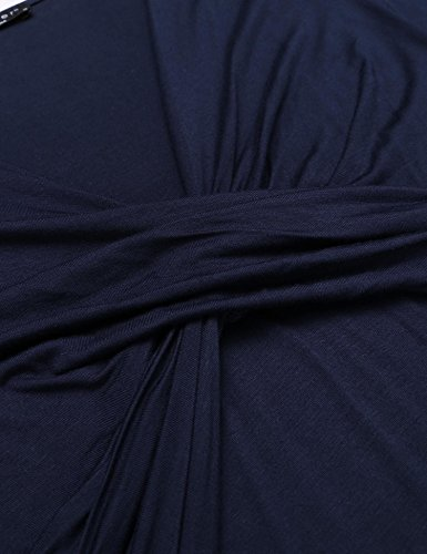 L'amore Robe De Maternité Infirmière Bleu Marine Chemise De Nuit
