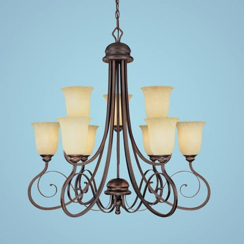 Millennium Lighting 1059-RBZ Chateau 9-Light Chandelier in Rubbed Bronze ()