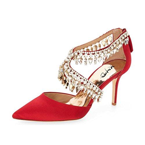 adf3e8f43a79 30%OFF XYD Wedding Bridal Pumps Sandals Shiny Rhinestones High Heels  Stilettos Pointy Toe Dance