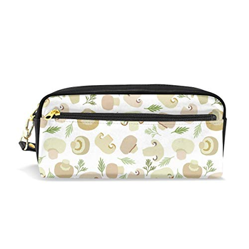 - Multifunction Durable Cosmetic Bag Mushroom Grass And Leaves Pencil Bag Pouch Bag Case Makeup Bag