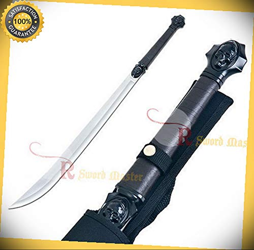(33'' Demon Combat Ready Skull Broad Saber Ninja Sword with Shealth Brand New perfect for cosplay outdoor camping)