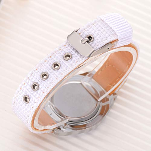 Fashion Children Kids Arabic Numbers Nylon Band Wristwatch Analog Quartz Watch Wrist Studens Watches by Gaweb (Image #7)