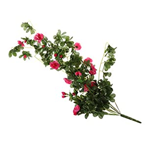 MonkeyJack Artificial Rhododendron Flower Vine Garden Hanging Wall Hanging Decor - Rose Red, 81cm 23