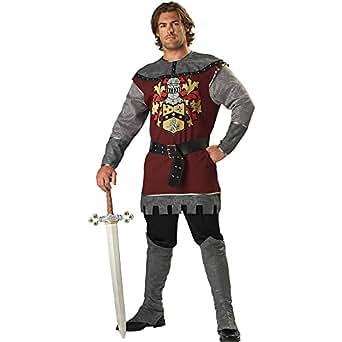 InCharacter Costumes Men's Noble Knight Costume, Silver/Burgundy, Medium