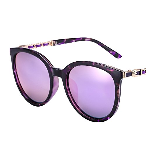 LXKMTYJ Chaîne en métal rétro lunettes fashion sakura le polariseur toner à la conduite offset miroir lunettes optiques, violet