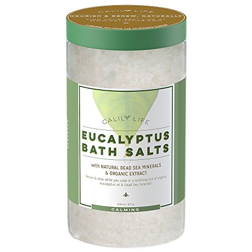 Organic Dead Sea Salt (Calily Life Organic Dead Sea Salt with Eucalyptus, 32 Oz. – Luxurious and Therapeutic Bath Salt Soak – Rejuvenates, Relaxes and Soothes Mind and Body)