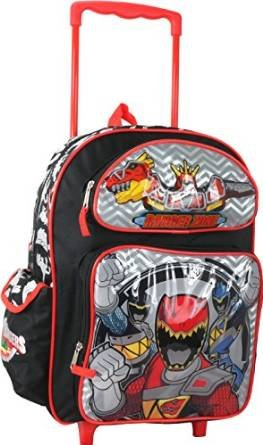 "Power Rangers Dino Charge Boys 16"" School Large Rolling Backpack"