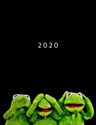 2020: Week To View With Hourly Schedule | Weekly Planner January - December | 8.5 x 11 Dated Agenda | Appointment Calendar | Organizer Book | Kermit The Frog