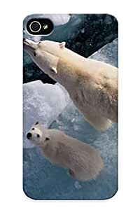 (abUFyj-1737-SeLKW)durable Protection Case Cover With Design For Iphone 4/4s(polar Bears)
